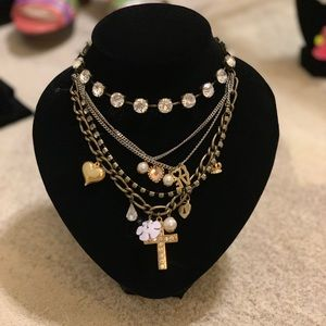 Betsey Johnson Chunky Layered Necklace